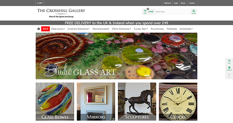 The Crosshill Gallery Website