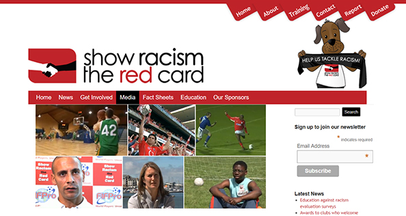Show Racism The Red Card Website